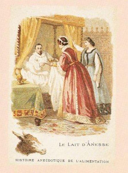 Le lait d'ânesse était souvent prescrit aux malades